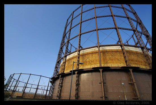 Gas holders, East London